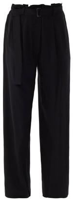 Ann Demeulemeester Rivale Wide-legged Twill Trousers - Black