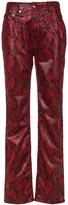 Maison Margiela faux snake-print trousers