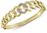 Effy D'Oro by Diamond Pavé Link Bangle Bracelet (1/5 ct. t.w.) in 14k Gold
