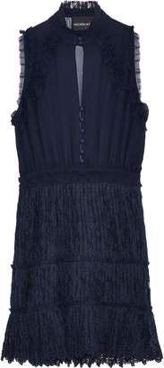 Nicholas Ruffle-trimmed Silk-georgette And Lace Mini Dress