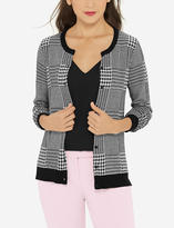 The Limited Houndstooth Buttoned Cardigan