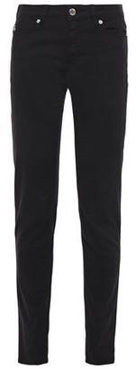 Love Moschino Flocked Printed Mid-rise Slim-leg Jeans