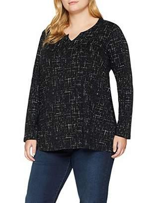 Ulla Popken Women's Shirt Langarm mit grafischem Print, A-Linie Longsleeve T,20