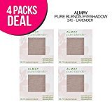 Almay 4-PACK ! Pure Blends Eyeshadow, 5 Options, Natural Blends Eyeshadow (245-Lavender)