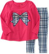 Kids Headquarters Baby Girls' 2-Pc. Bow Tunic & Plaid Leggings Set
