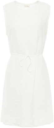 American Vintage Ficobay Belted Linen Mini Dress