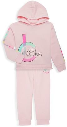 Juicy Couture Little Girl's 2-Piece Logo Hoodie & Jogging Pants Set