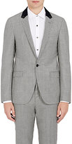 Lanvin Men's Micro-Houndstooth Wool-Blend Single-Button Sportcoat-SILVER
