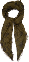 Alexander McQueen King and Queen-print silk-blend scarf