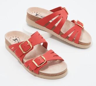 Mephisto Leather Slide Sandals - Helisa