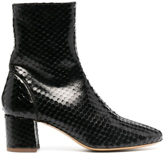 Roseanna Puppy snakeskin-effect ankle boots