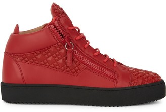 Giuseppe Zanotti Kriss textured zip-detail sneakers