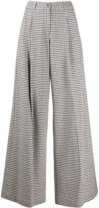 Jejia Plaid-Check Trousers