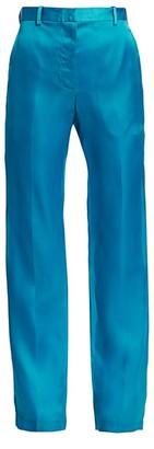 Helmut Lang Straight-Leg Silk Trousers