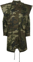 MM6 MAISON MARGIELA camouflage coat - women - Cotton - 40