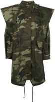 MM6 MAISON MARGIELA camouflage coat - women - Cotton - 40