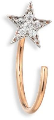 Kismet By Milka Star Diamond & 14K Rose Gold Single Reverse Hook Single Earring