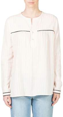 Skin and Threads Tab Front Blouse
