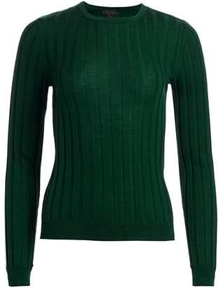 Saks Fifth Avenue Wide Rib-Knit Wool Sweater