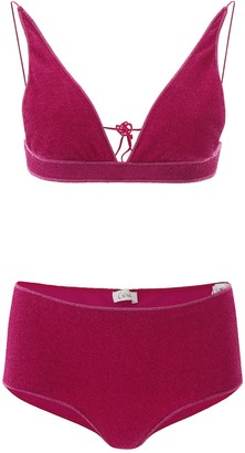 Oseree Lurex Two-Piece Bikini