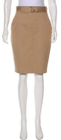 Akris Punto Accented Knee-Length Skirt