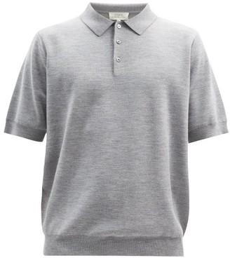 Studio Nicholson Merino Wool-blend Jersey Polo Shirt - Grey