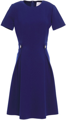 Carolina Herrera Button-detailed Wool-blend Cady Dress
