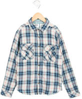 Zadig & Voltaire Boys' Plaid Patterned Flannel Shirt