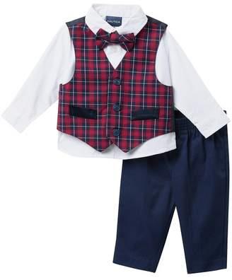 Nautica Holiday Tartan Vest 4-Piece Set (Baby Boys 0-9M)