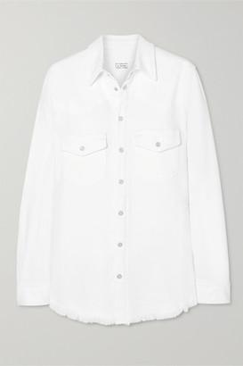 Givenchy Frayed Denim Shirt - White