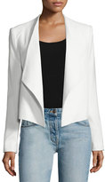 Alice + Olivia Claude Open-Front Shawl-Collar Blazer, White