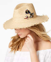 Steve Madden Embellished Insects Panama Hat
