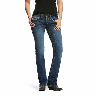 Ariat Women's Real Mid Rise Straight Jean