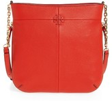 Tory Burch Ivy Swingpack Leather Hobo - Red