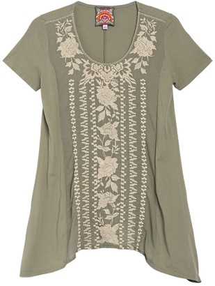 Johnny Was Letty Woven Embroidered Tunic