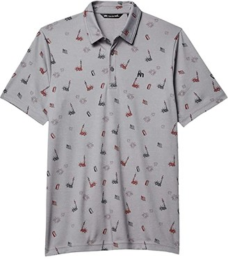 Travis Mathew Justice in Beer Polo (Heather Quiet Shade) Men's Clothing