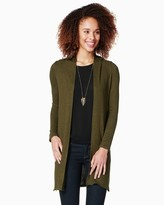 hooded duster sweater - ShopStyle