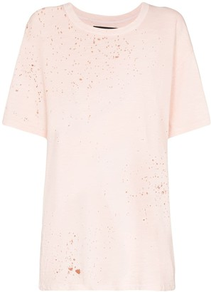 Amiri distressed cotton T-shirt