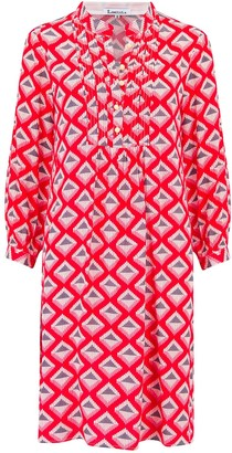 Libelula Chloe Dress Red Star Diamond Print