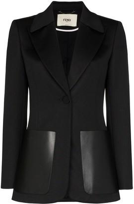 Fendi FF logo stripe blazer jacket