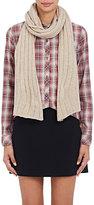 Barneys New York Women's Rib-Knit Cashmere-Silk Scarf-TAN