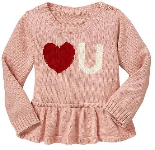 Gap Heart peplum sweater