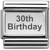 Nomination Classic Silver 30th Birthday Charm