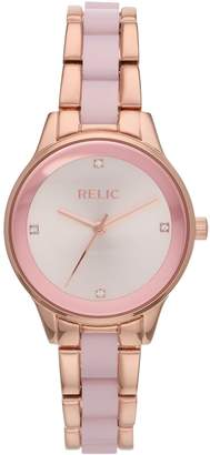 Fossil Relic By Relic by Women's Tessa Rose Gold Tone & Acetate Watch