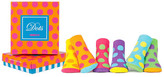 Trumpette Bright Dots Sock Set - Pack of 6 (Baby Girls)