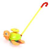 Orange Turtle Push Toy