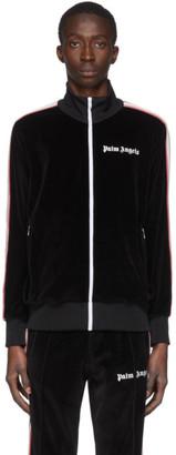 Palm Angels Black Chenille Track Jacket