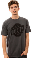 Brixton The Trotter Tee in Charcoal