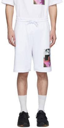 Dries Van Noten SSENSE Exclusive White Mika Ninagawa Edition Print Shorts