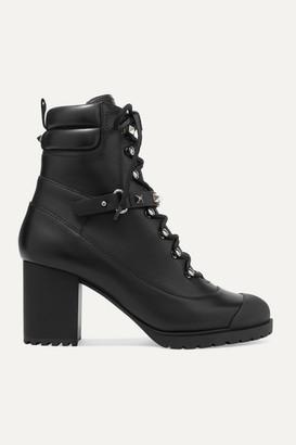 Valentino Garavani Rockstud 95 Leather Ankle Boots - Black